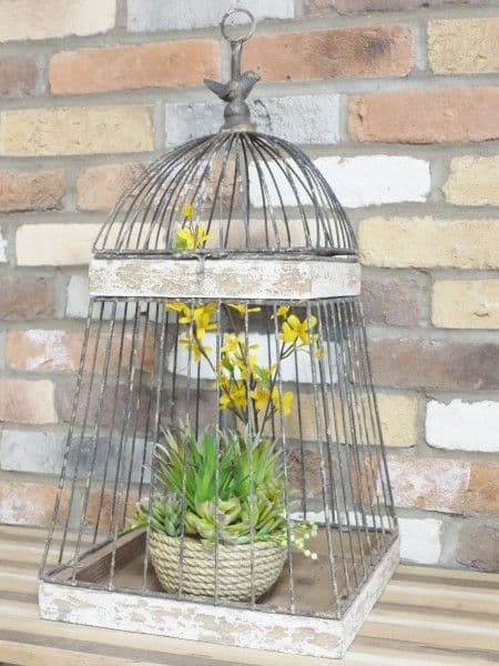 Rustic Bird Cage Decoration